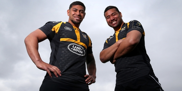 Charles (left) and Siale Piutau are instrumental in the revival at Wasps. Photo / Getty Images
