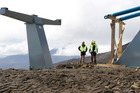 Construction of the new chairlift has been underway since late December. Photo / Supplied