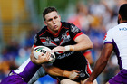 Warriors captain Ryan Hoffman in action against the Melbourne Storm in Round 3 at Mount Smart Stadium. Photo / Getty Images