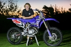Havelock North's Olly Ayre will be one of the favourites in the 15-16 years 125cc class this weekend. Photo / Warren Buckland