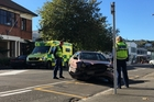 CRASH SCENE: A two-car crash blocked St Hill St yesterday for about an hour. PHOTO/ZARYD WILSON
