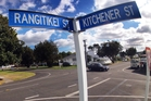 SIMPLE FIX: A small roundabout will soon go in at the intersection of Rangitikei St and Kitchener St to slow heavy traffic using Rangitikei St.PHOTO/ STUART MUNRO