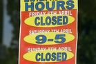 Only one complaint was made about a shop in Northland opening over Easter, allegedly in contravention of Easter trading laws.