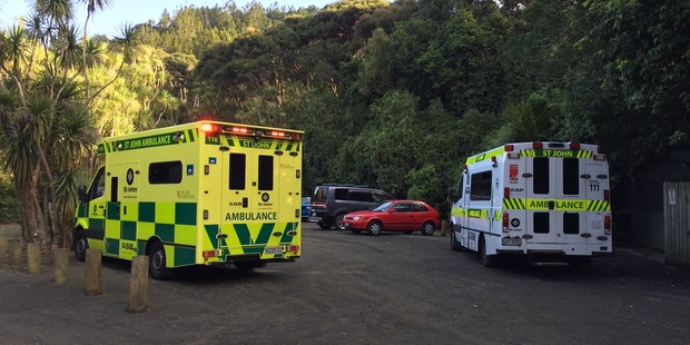 Loading An emergency call was made about 3.15pm for an ambulance. Photo / Daniel Hines