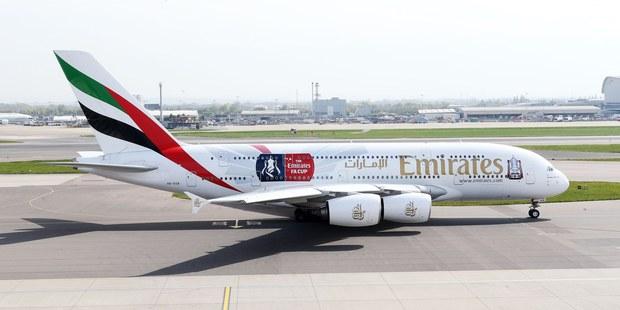 Emirates' new FA Cup themed A380 is about to embark on a world tour promoting the big game.