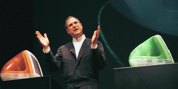 Steve Jobs introduces the next generation of the popular iMacs in 1999. Photo / Getty