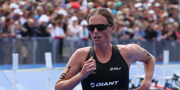 Nicky Samuels competes during the 2012 ITU Elite Women's World triathlon Grand Final. Photo / Getty Images