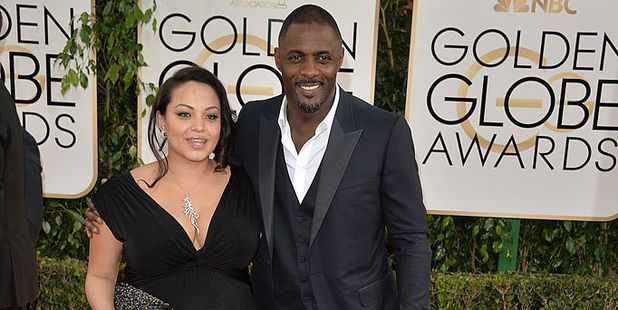 Actor Idris Elba with ex wife Naiyana Garth. Photo / Getty Images