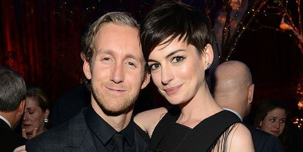 Adam Shulman and Anne Hathaway. Photo / Getty Images