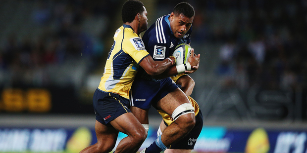 Blues lock Patrick Tuipulotu will be available to play against the Rebels at Eden Park next weekend. Photo/Getty.