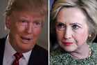Republican Donald Trump and Democrat Hillary Clinton go head to head in New York. Photo / Getty Images