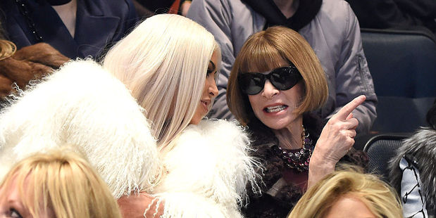 Kim Kardashian West and Anna Wintour attend Kanye West Yeezy Season 3 at Madison Square Garden. Photo / Getty Images