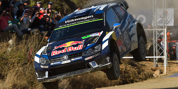 Sebastien Ogier competes Day Two of the WRC Mexico. Photo / Getty Images