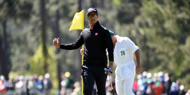 Adam Scott during the third round of the 2016 Masters Tournament. Photo / Getty Images