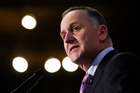 Prime Minister John Key speaks during the Business New Zealand pre-budget lunch at Michael Fowler Centre. Photo / Getty
