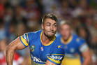 Kieran Foran of the Eels passes during the round seven NRL match against Manly. Photo / Getty Images