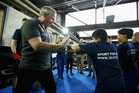 Sean Fitzpatrick played an active role at the Laureus Sport for Good Jam in Berlin. Photo / Getty