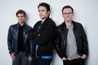 Actors Garett Clayton, James Franco, and Christian Slater from King Cobra at the Tribeca Film Festival. Photo / Getty Images