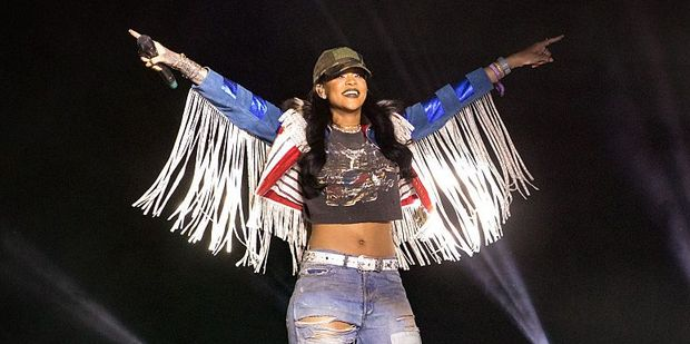 Rihanna surprises audience by performing at Coachella. Photo / Getty Images