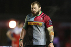 Harlequins and England prop Joe Marler during the European Rugby Challenge Cup semi final match between Harlequins and Grenoble. Photo / Getty