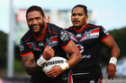 Manu Vatuvei will return to action after missing the Warriors' last two games. Photo / Getty