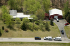 This aerial photo shows one of the locations being investigated in Pike County, Ohio, as part of an ongoing homicide investigation. Photo / AP