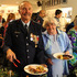 Kaeo fire chief Lindsay Murray and his sister Dallas Denby of Feilding at the buffet table. PHOTO / PETER DE GRAAF
