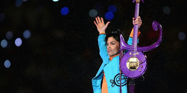 Prince performs during the Pepsi Halftime Show at Super Bowl XLI. Photo / Getty Images