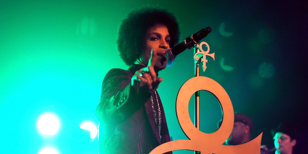 Prince performs onstage at The Hollywood Palladium. Photo / Getty Images