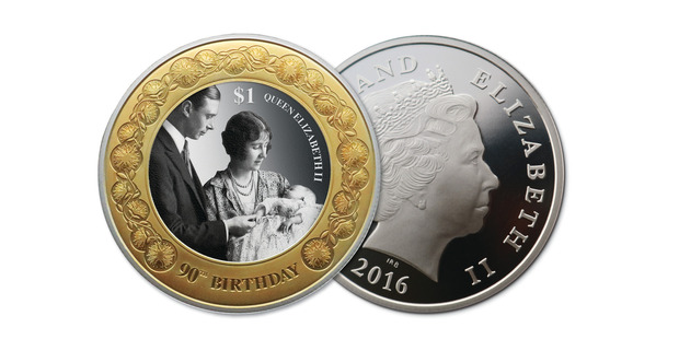 The 1oz silver coin features the Queen at her christening. Photo / Supplied