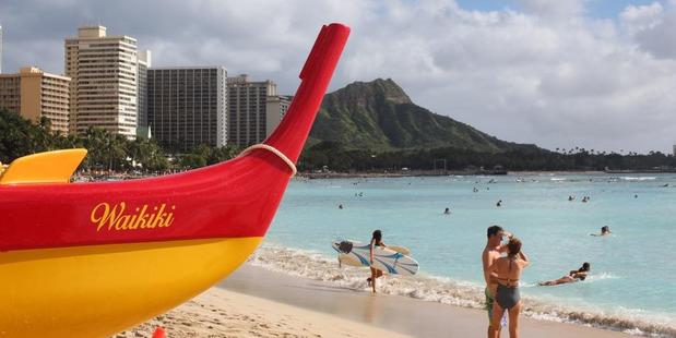 Waikiki Beach isn't even as beautiful as Hawaii gets. Photo / Grant Bradley