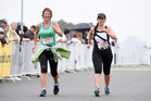 Tauranga 14km walk, Ferguson Park. Judith Lunn (left) and Ashleigh Spencer, who says training alone gives her a mental break/ Photo/George Novak