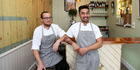 Chefs William Cook and Carlo Buenaventura, of pop-up dining company The Cult Project, at Madame George on K Rd. Photo / Getty Images
