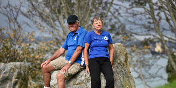 Ian and Jan Farquhar spend Tuesday and Friday mornings with the Mount Joggers & Walkers club. The couple, in their 70s, regularly summit the Mount and have walked a half marathon. Photo/George Novak