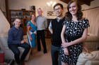 McKenzie family in their family home on Auckland's North Shore. L-R Alastair McKenzie, Elizabeth and Geoff McKenzie and Jonathan and Anita Cheng. Photo / Nick Reed