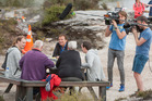 Dutch reality show Love is in the Air films at Te Puia. PHOTO/BEN FRASER