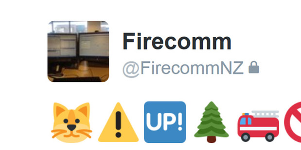 FirecommNZ uses emojis in tweets for events that the New Zealand Fire Service are attending. Photo / Supplied