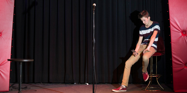 Gabriel Ego is set to take the stage as a stand up comedian, taking after his father, Paul Ego. Photo / NZ Herald