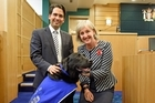 The country's first court dog, Louie, has received the ultimate seal of approval since he started comforting young witnesses in Tauranga trials.