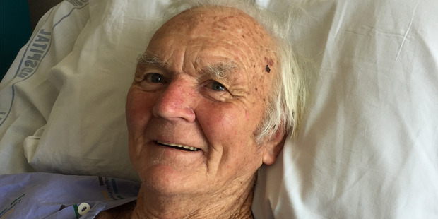 Loading Peter Bradbury crawled to his house using his chin, fingers and toes after being shocked.  Photo / Belinda Feek