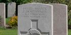 Executed New Zealander Jack Braithwaite's grave at St Sever Cemetery Extension, Rouen, Seine-Maritime, France. Photo / Supplied