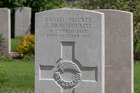 Executed New Zealander Jack Braithwaite's grave at St Sever Cemetery Extension, Rouen, Seine-Maritime, France. Photo / Supplied