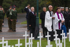 Field of Remembrance consecration service. PHOTO/STEPHEN PARKER