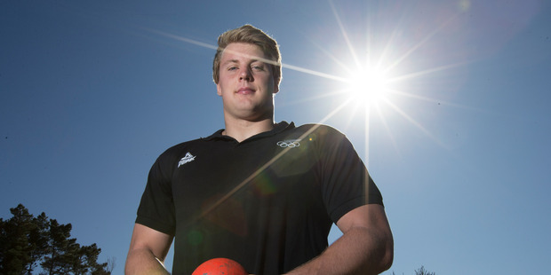 Loading Men's shot put Jacko Gill, has been named in the New Zealand Athletics team for the Rio Olympics, after a team annoncement at the AUT Millennium track. Photo / Brett Phibbs.