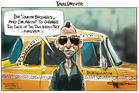 Simon Bridges announces sweeping changes to the Taxi industry. Illustration / Rod Emmerson