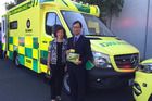 Auckland couple George and Laura Chan donated a fully functioning ambulance and rapid response vehicle to St John.