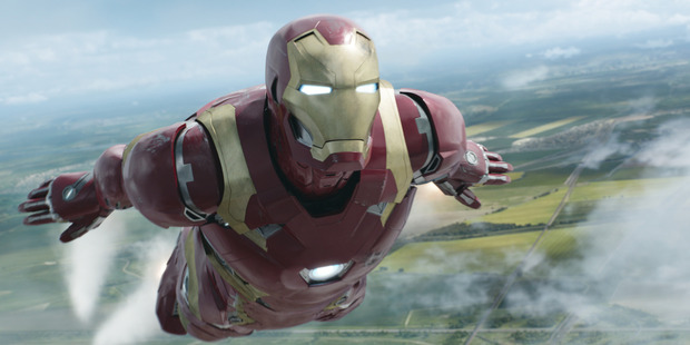 Iron Man/Tony Stark played by Robert Downey Jr. in Marvel's Captain America: Civil War. Photo / Marvel