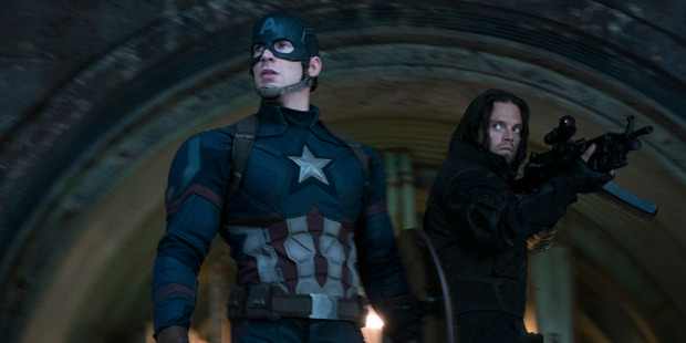 Captain America/Steve Rogers played by Chris Evans and Winter Soldier/Bucky Barnes played by Sebastian Stan. Photo / Marvel