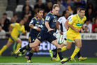 Matt Faddes of the Highlanders prepares to kick during the round nine Super Rugby match between the Highlanders and the Sharks at Forsyth Barr Stadium. Photo / Getty Images.