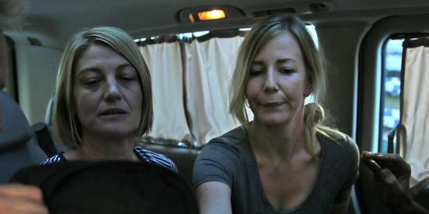 Loading TV journalist Tara Brown, left, and Sally Faulkner, right. Photo / AP